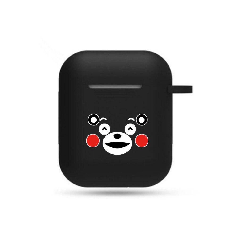 Cute Cartoon Kumamon Earphone Case Cosplay Unisex Airpods Bluetooth Boys Girls Headset Cover Earphone Case Headphone Case Props