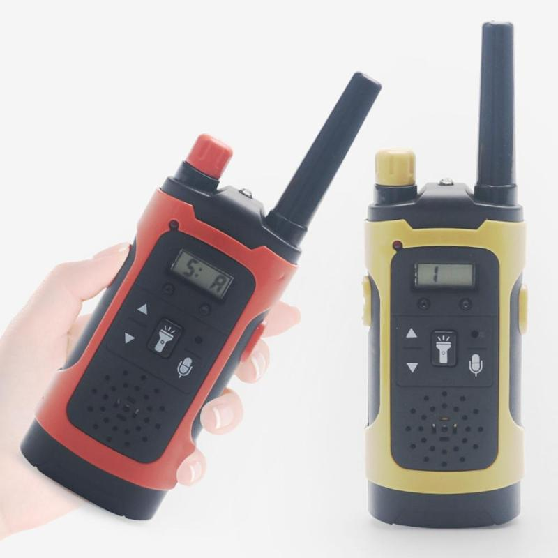 2pcs Toy Walkie Talkies Long Distance Handheld Wireless Intercom Phone LCD Display Electronic Children Kids Gifts