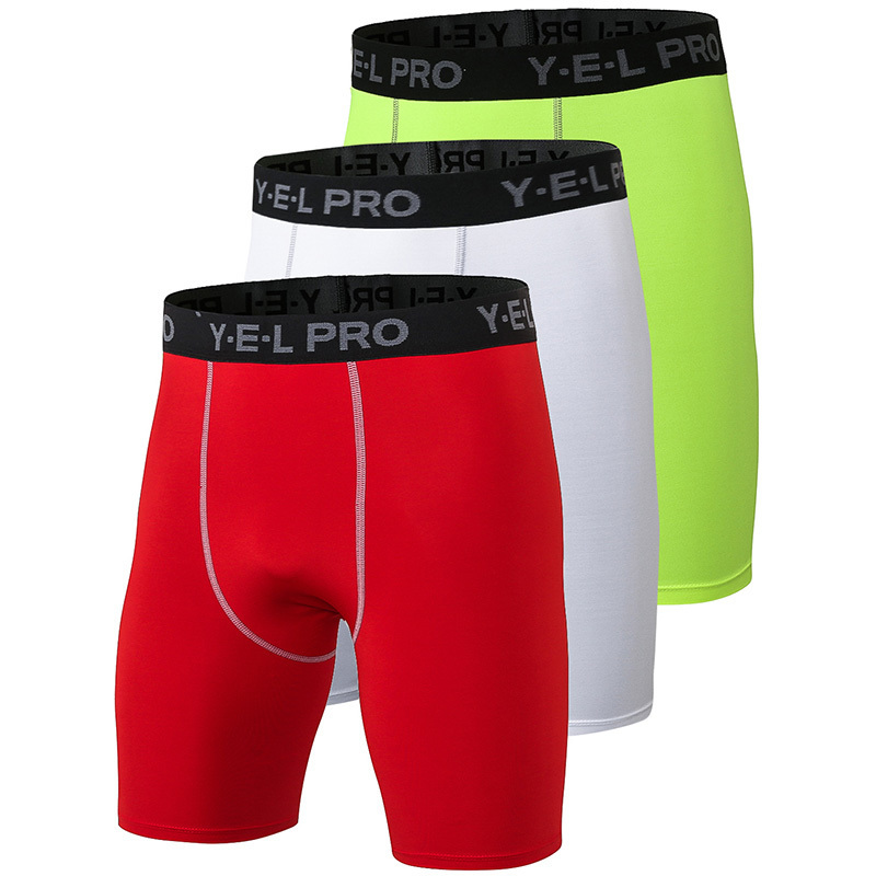 Hot 3 PCS Quick Dry Gym Sports Mens Shorts Crossfit Men Football Trousers Jogging Compression Quick Dry Tight Running Shorts in Running Shorts from Sports Entertainment