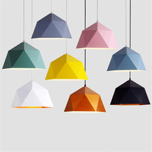 LED Iron Pendant Lights E27 Colorful Living Room Home Decor Hanglamp Restaurant Indoor lighting Pendant Lamps Kitchen Fixtures
