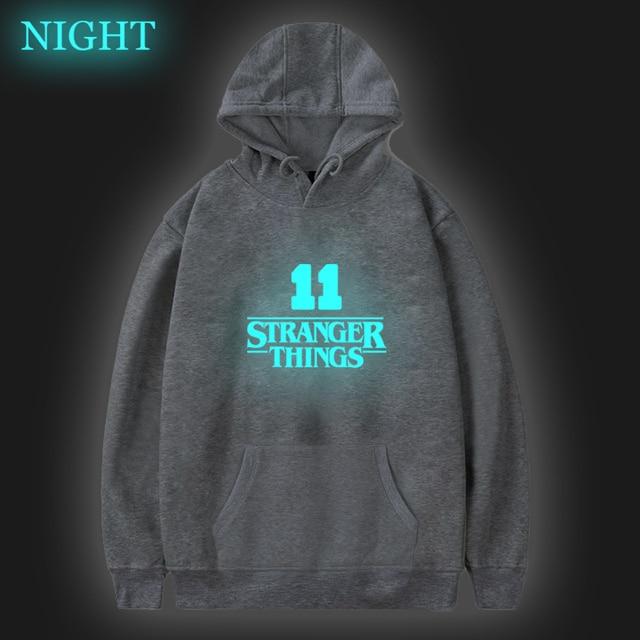 Hip Hop Stranger Things Hoodies Kids Adults Luminous Sweatshirts Sudadera Hombre Cloth Moletom Harajuku Teenagers Hoodie Women