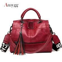 شرابة متعددة الوظائف المرأة حقيبة حقائب عالية الجودة بولي Leather الجلود سعة كبيرة حقائب الكتف Crossbody للنساء كيس الرئيسي