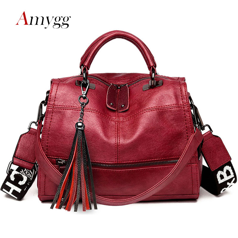 Tassel Multifunctional Women Bag Handbags High Quality PU Leather Large Capacity Shoulder Crossbody Bags For Women Sac A Main