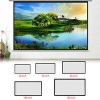 120-60 дюймовые проекционные экраны 3D HD настенный проекционный экран холст светодиодный проектор для домашнего кинотеатра