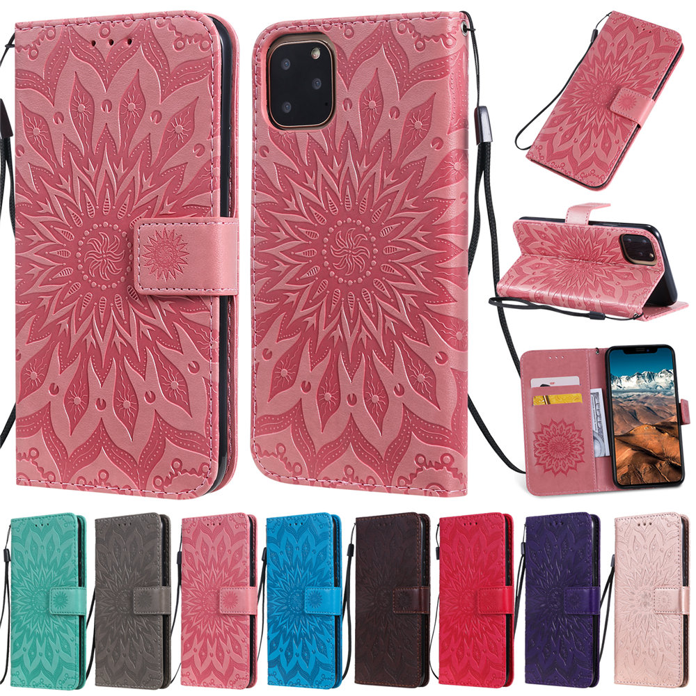 Luxury Flower Wallet Flip Case for iPhone 11/11 Pro/11 Pro Max