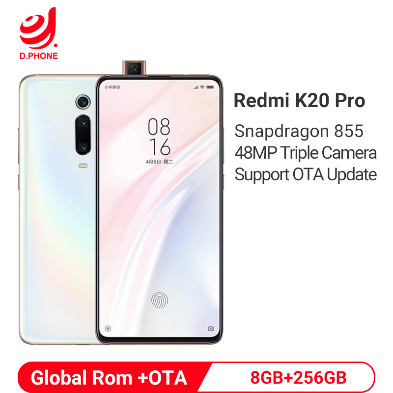 Rom global xiaomi redmi k20 pro 8 gb 256 gb snapdragon 855 octa núcleo 4000 mah pop-up câmera frontal 48mp câmera traseira smartphone