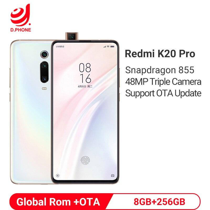 Смартфон Xiaomi Redmi K20 Pro с глобальной ПЗУ, 8 ГБ, 256 ГБ, Восьмиядерный процессор Snapdragon 855, 4000 мАч, всплывающая фронтальная камера, 48 МП, задняя камера