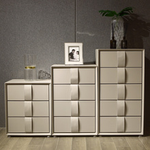 Cabinet 4-Drawers Wooden Chest Living-Room Home-Side Modern Minimalist Rectangle Mesas-De-Basse