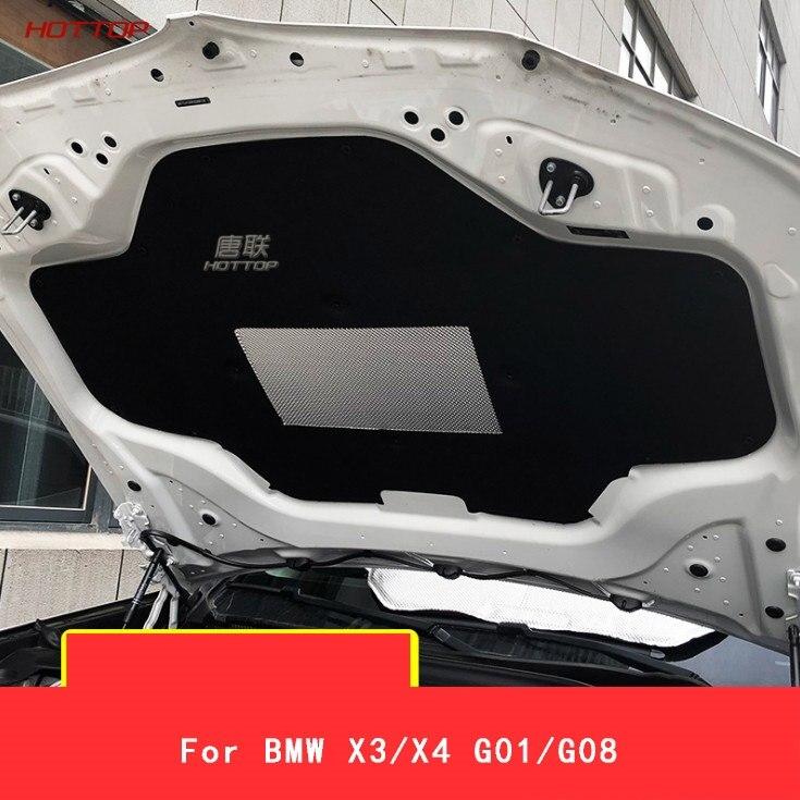 1 pcs 자동차 후드 엔진 방음 패드 커버 열 열 절연 패드 매트 bmw x3/x4 g01/g08