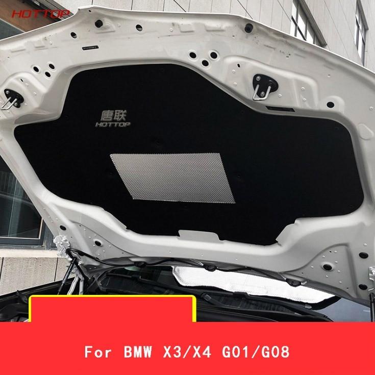 1 pièces capot de voiture moteur isolation phonique Pad couverture thermique isolation thermique Pad Mat pour BMW X3/X4 G01/G08