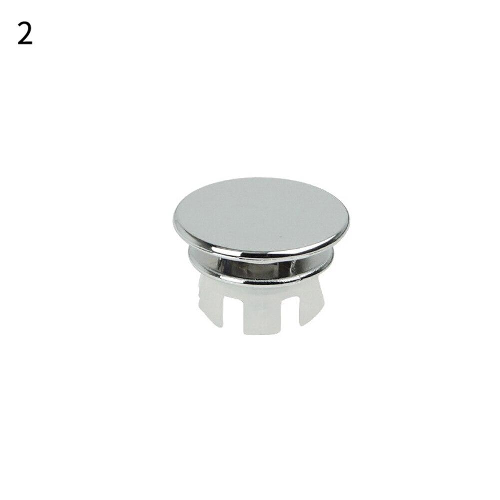 1 шт. ванная раковина кольцо для защиты от переполнения шестифутовая круглая вставка хромированное отверстие крышка - Цвет: 2