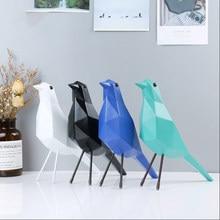Resin Crafts Modern Minimalist Home Geometric Peace Dove Furnishings Desktop Accessories Home Decoration Accessories