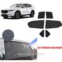 6 pçs high end personalizado para mazda CX 5 2017 18 tipo de cartão magnético cortina de carro sol sombra de janela do carro estilo do carro|  -