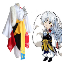 Anime InuYasha Cosplay Costumes Sesshoumaru Cosplay Costume Kimono Halloween Carnival Party Unisex Game Cosplay Costume 2016 new arrival halloween costumes anime kyoukai no kanata hiroomi nase cosplay costume beyond the boundary unisex cos clothes