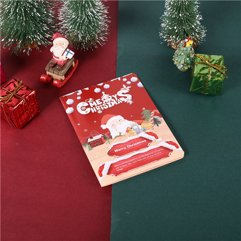 Christmas Card Set Santa Claus Elk Snowman Diamond Painting DIY Holiday Card 30 x 15 x 2cm Merry Christmas Navidad 40OCT79