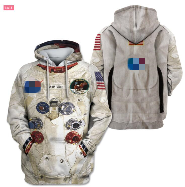 Family Matching Outfits 3D Armstrong Space Suite Kids Father Mom Hoodies Sweatshirt T Shirts Casual Astronaut Spacesuit