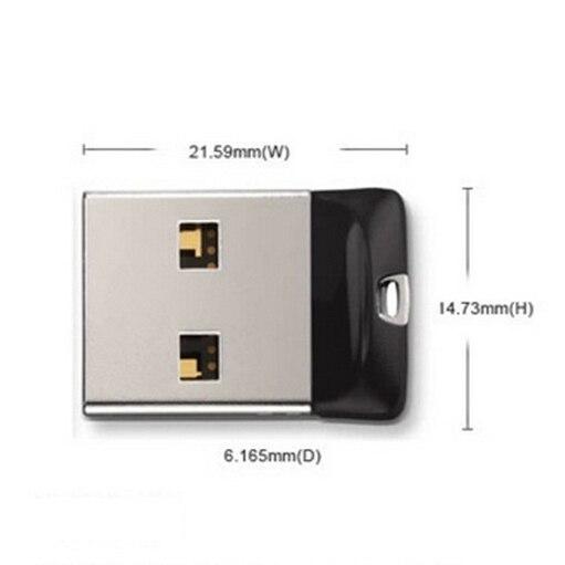 Super Mini Black USB Flash Drive 8GB 16GB Pendrive 32GB 64GB 128GB Memory Stick Pen Drive Usb Stick Small U Disk Best Gift
