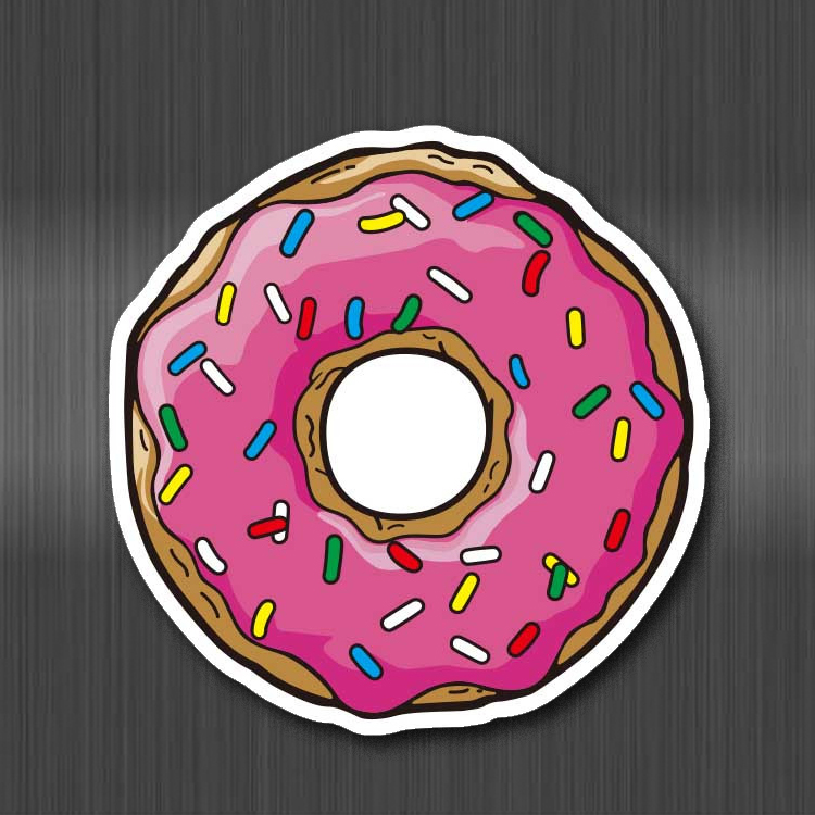Burger Food Drink Fruit Donut Stickers For Children Laptop Moto Car Guitar Luggage Skateboard Bicycle Stickers