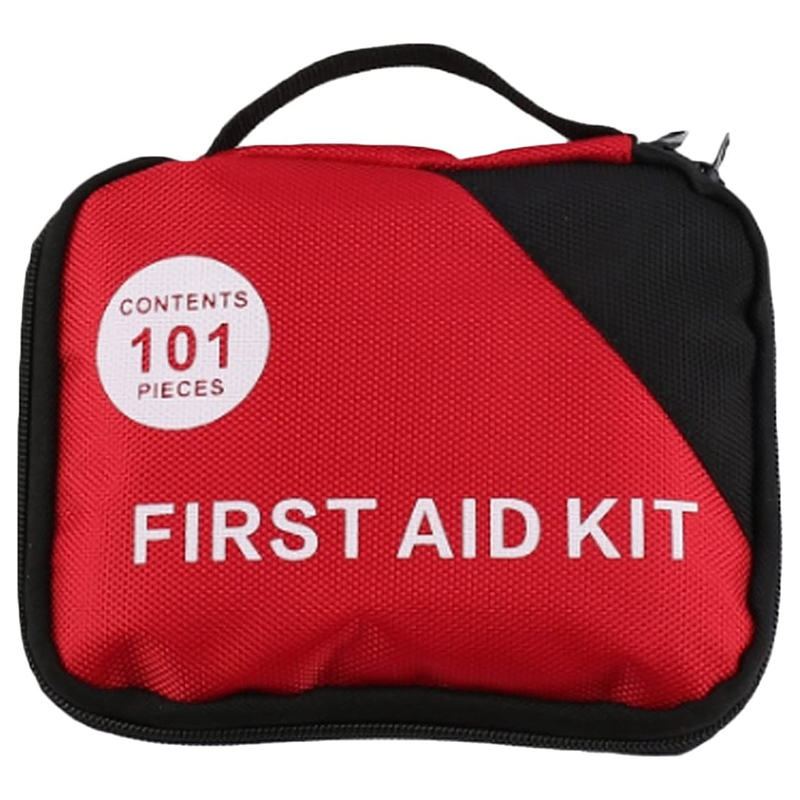 101 PCS Portable Complete Emergency First Aid Kit Including Cotton Swab Scissors Emergency Bandages Must Have For Home Hiking Ca
