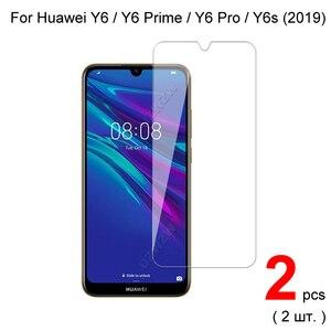 Image 1 - זכוכית עבור Huawei Y6 2019 / Y6 פרו/Y6 ראש 2019 מזג זכוכית מסך מגן עבור Huawei Y6s 2019 מגן זכוכית