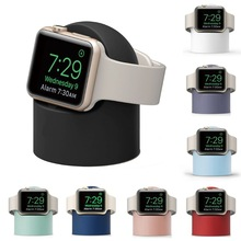 Charger Stand Mount Silicone Dock Holder for Apple Watch Series 4/3/2/1 44mm/42mm/40mm/38mm Charge Cable