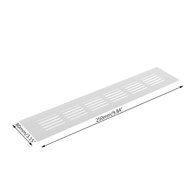 Silver Alloy Air Vent Louvred Grille Ventilation Cover 150/200/250/400/450/500mm