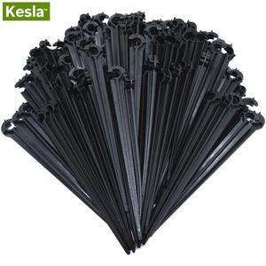 50-200PCS Durable 1/4'' C-type Hook Fixed Stem Support Holder Stakes for 4/7mm Hose Flowerpot Drip Irrigation Fitting Greenhouse(China)