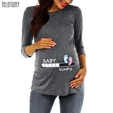 TELOTUNY,, топы для беременных, Осень-зима, Новое поступление, женская блузка для беременных и кормящих детей с мультяшным принтом, Одежда для беременных, 923