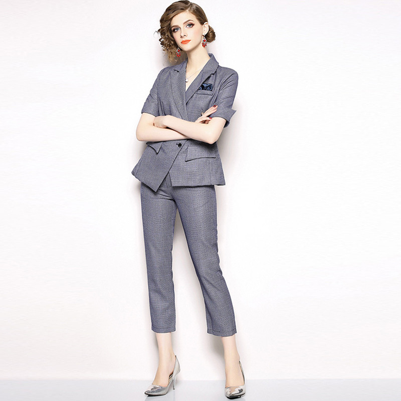 Spring and autumn spring new women fashion office lady slimming temperament professional suit women slimming three quarter sleev