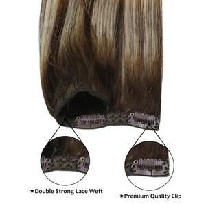 Image 3 - Moresoo Hair Clip in Machine Remy Brazilian Human Hair Clips in Double Weft Natural Straight Clip on Human Hair Extensions