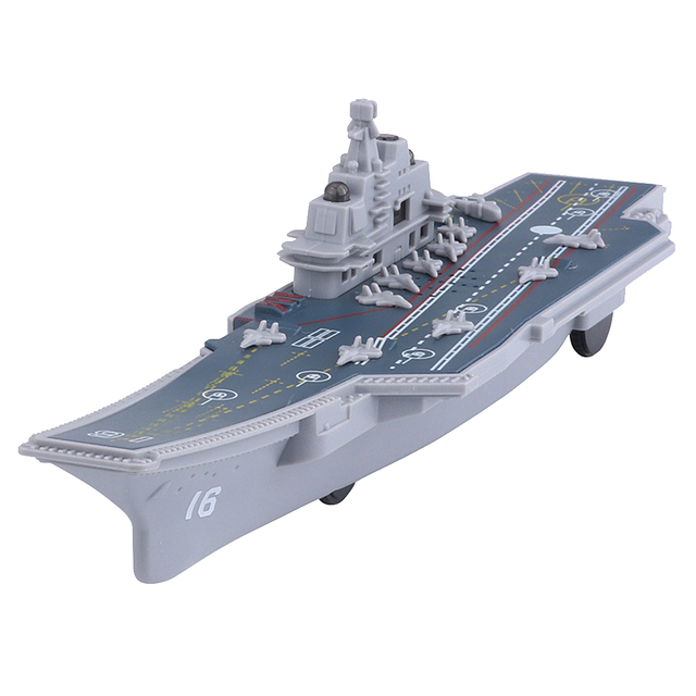Electric Plastic Mini Aircraft Carrier Children Toy Model Birthday Gifts w/Light 6