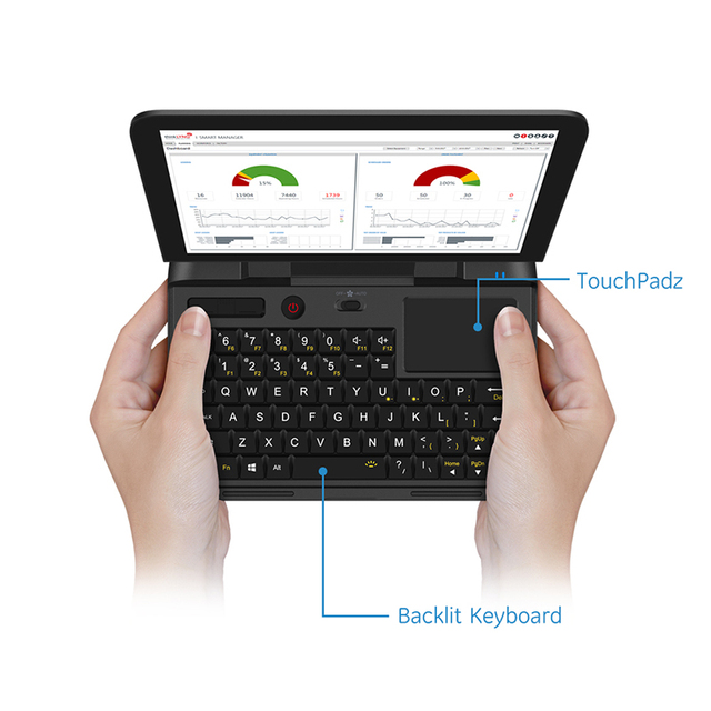 Cheap Pocket Laptop Netbook Computer Notebook GPD MicroPC 6 Inch RJ45 RS232 HDMI-compatible  Windows 10 Pro 8G RAM Backlit 1