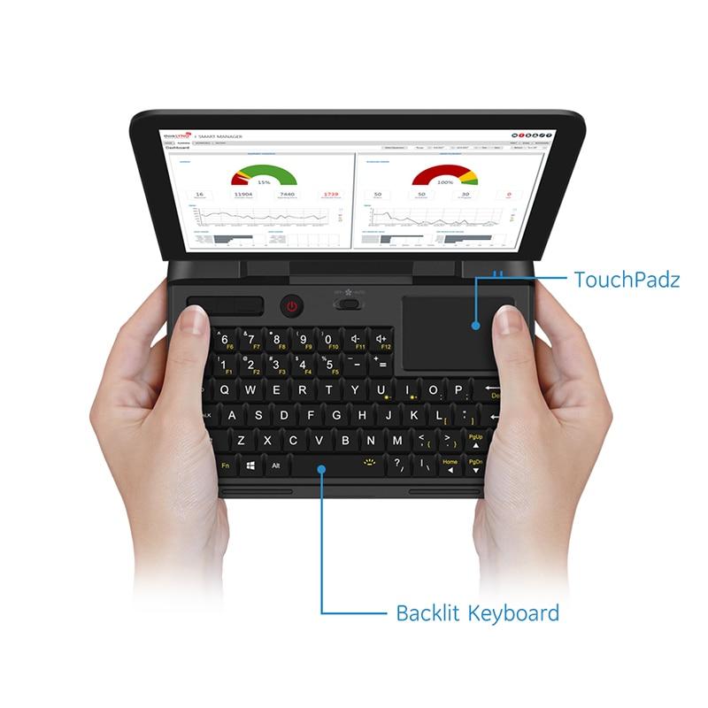 Дешевый карманный ноутбук нетбук компьютер ноутбук GPD микропк 6 дюймов RJ45 RS232 HDMI совместимый Windows 10 Pro 8G RAM с подсветкой