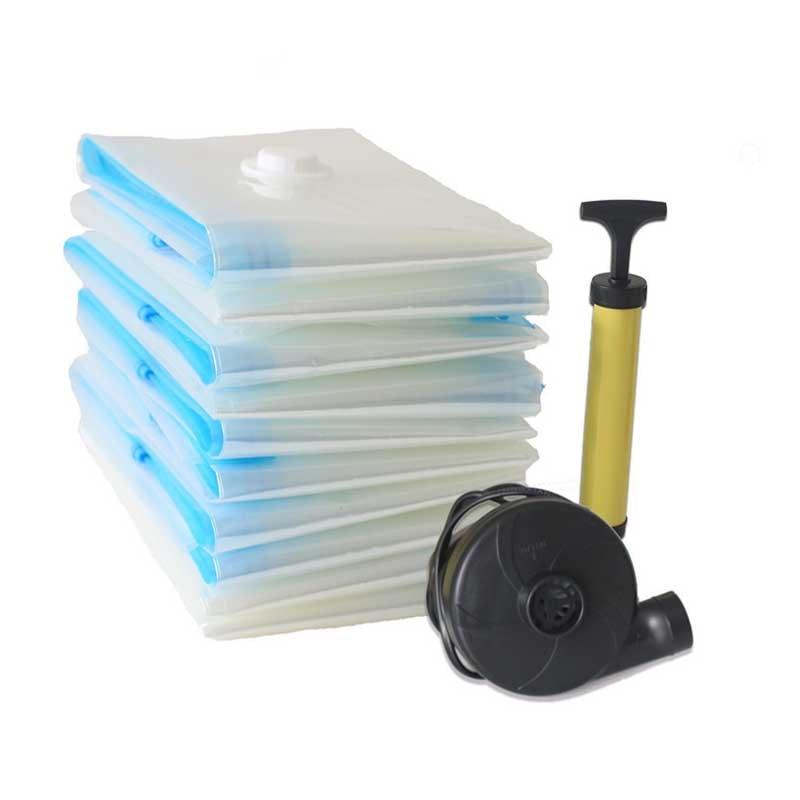 Вакуумный мешок для хранения, Домашний Органайзер, прозрачная окантовка, складной органайзер для одежды, уплотнение, сжатое для экономии места в путешествии, сумки, посылка - Цвет: Белый