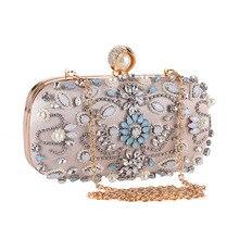Ручная вышивка жемчужина и Кристалл Женская вечерняя сумка со стразами с бриллиантами и шипами клатч кошелек женская сумка для вечерние банкеты