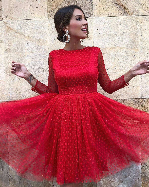 2019 Vintage 1950s robes de bal robes de bal courtes robe de bal rouge/jaune dos nu robes de soirée robe de festa