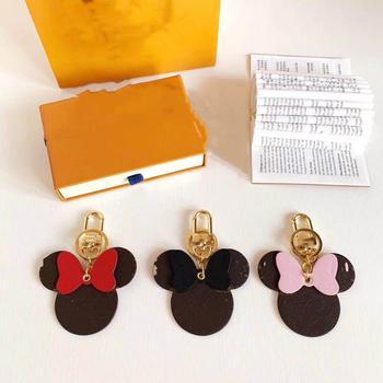 цена 2020 New Cartoon Cute Mickey Fluffy Rabbit Fur Ball Keychain For Women Pompom Rabbit Fur Key Ring Key chain on Bag Car Jewelry онлайн в 2017 году