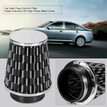 Car High Flow Cold Air Filter Intake Induction Kit High Power Mesh Cone Blue/Black Domestic Delivery universal car air filter 76mm 3in cone shaped high flow cold air intake mesh filter black mushroom head motorbike cleaner new
