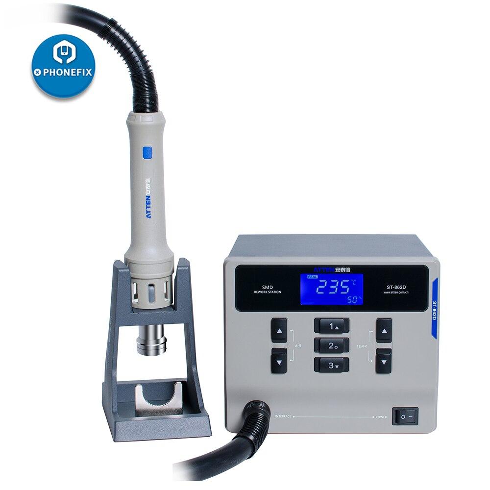ATTEN St-862D Hot Air Gun Digital Display BGA Rework Station 1000W Automatic Sleep Phone PCB Chip Soldering Repair Station