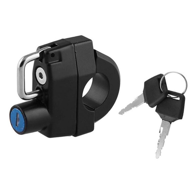 multiuso mini portatil anti roubo capacete bloqueio com chave bicicleta ciclismo c63d