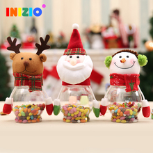 2020 Christmas Children's Gifts Old Man Snowman Elk Transparent Candy Cans Gifts Holiday