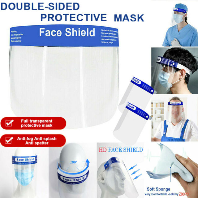 Anti Spitting Saliva Professional Clear Full-Face Shield Protection Transparent Protective Safty