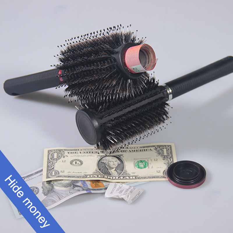 For Hide Money, Jewelry, Or Valuables With Discreet Secret Removable Lid Hidden Safes Hair Brush Style Secret Safe Box