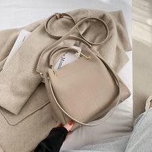 Retro bolsa de ombro 2020 inverno nova bolsa cor pura pu senhoras saco do mensageiro ocasional saco de compras diário grande saco