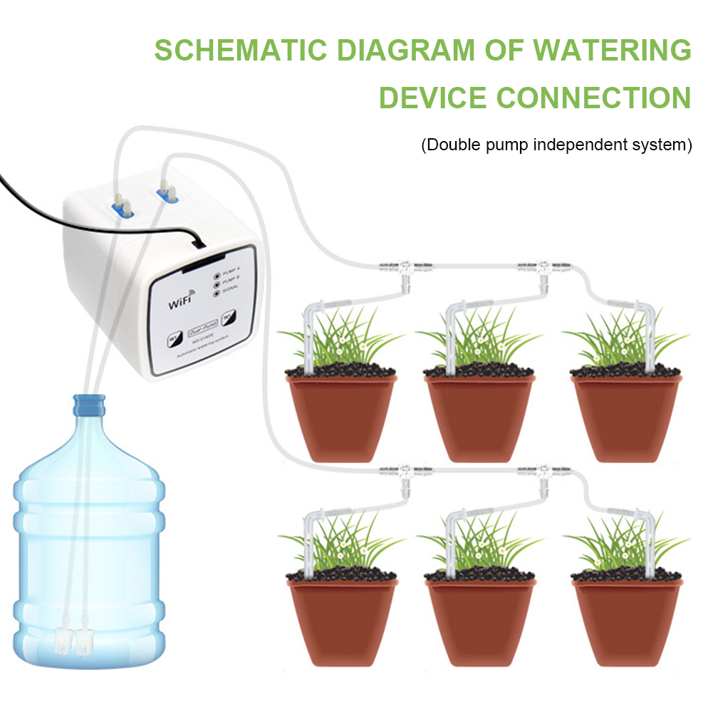 Automatic Drip Irrigation Device Automatic Watering System Garden WiFi Control Houseplant Timer for Garden Patio Garden Tools