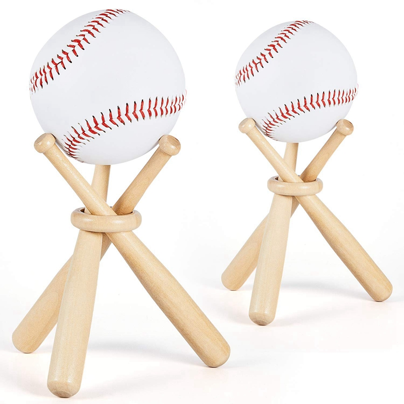 Baseball Golf Tennis Ball Display Stand Souvenir Ball Wood Holder Support