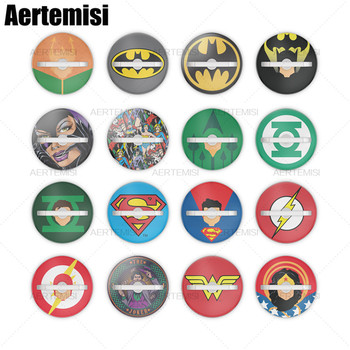Aertemisi 50 Pieces Finger Ring Phone Holder Stand and Grip for Smartphones and Tablets Green Lantern Superman Icon The Flash