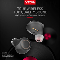 T1 Support AptX ACC TWS True Wireless Bluetooth 5.0 Earphone CVC8 Noise Cancellation With Super Bass HD Mic headset earbuds