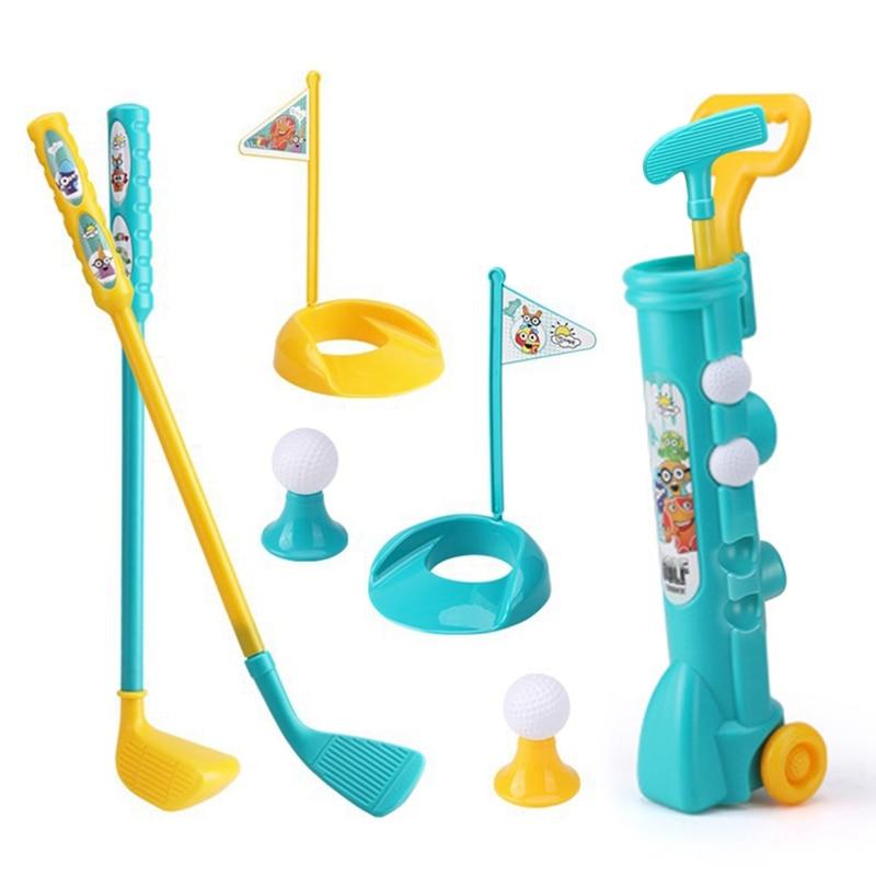 1 ensemble Mini plastique Golf jouet enfant Golf sport jeu professionnel enfants enfants maison en plein air intérieur petit Golf Club partie formation