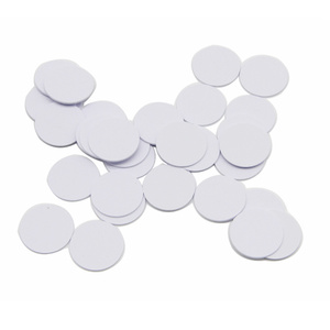 Image 5 - (100PCS/LOT) 13.56Mhz NFC 25MM Sticker Adhesive Coin Cards Tags Ntag213 (Compatible 203 ) PVC Waterproof For All NFC Phones